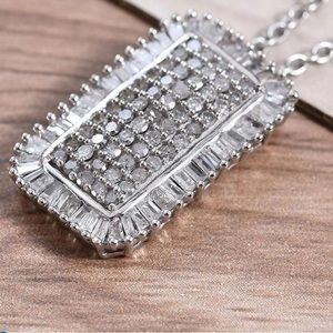 Diamond Pendant Necklace with 20 inch Chain